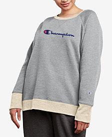 Champion Plus Size Powerblend Fleece Boyfriend Logo Sweatshirt