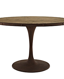 Drive 47 Inch Oval Wood Top Dining Table