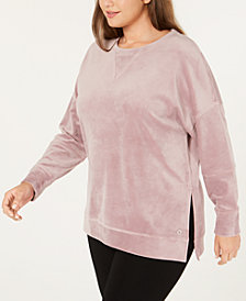 Calvin Klein Performance Velour Top, Created for Macy's