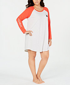 Jenni Plus Size Graphic-Print Sleepshirt, Created for Macy's