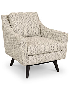 "Cistella 31"" Fabric Accent Swivel Chair, Created for Macy's"