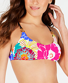 Trina Turk Radiant Blooms Bralette Bikini Top