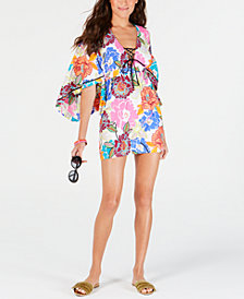 Trina Turk Radiant Blooms Tunic Cover-Up
