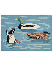 Liora Manne Front Porch Indoor/Outdoor Duck Life Lake Area Rugs