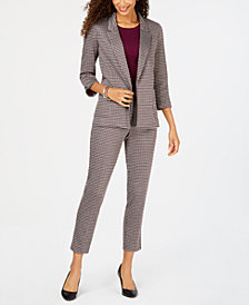 Nine West Houndstooth Jacket & Pants