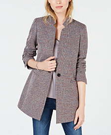 Bar III One-Button Tweed Blazer, Created for Macy's