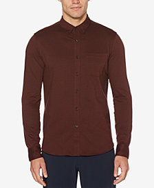 Perry Ellis Men's Piqué-Knit Pocket Shirt
