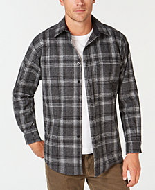 Pendleton Men's Lodge Plaid Wool Pocket Shirt
