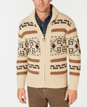 Men's Vintage Sweaters History 1972 The Dude Original Westerly Cardigan Pendleton $186.75 AT vintagedancer.com