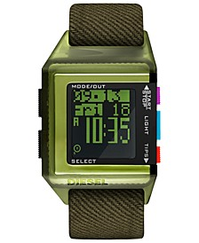 Men's 40th Anniversary Tipps Digital Olive Canvas Strap Watch 39x59mm,  Limited Edition