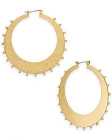 kate spade new york Gold-Tone Studded Hoop Earrings