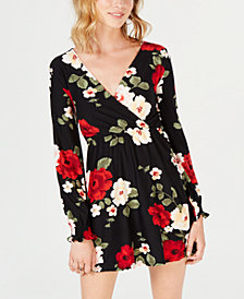 Derek Heart Juniors' Floral Surplice Dress
