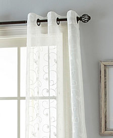 "Floral 37"" X 84"" Pair of Grommet Top Curtain Panels"