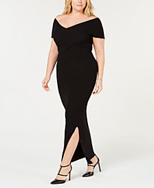 525 America Plus Size Off-The-Shoulder Dress