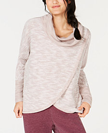 Calvin Klein Performance Cowl-Neck Tulip-Hem Top
