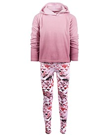 Ideology Little Girls Ombré Hoodie & Geo-Print Leggings, Created for Macy's