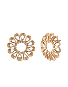 Trina Turk Vintage Flower Oversized Stud Earrings