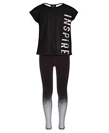 Ideology Big Girls Inspire T-Shirt & Ombré Leggings, Created for Macy's