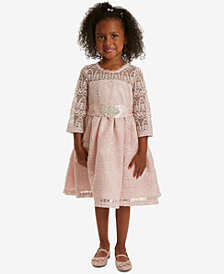 Rare Editions Toddler Girls Lace Embellished-Waist Dress