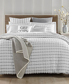 Charter Club Damask Designs Seersucker Cotton 150-Thread Count 2-Pc. Twin Duvet Set, Created for Macy's