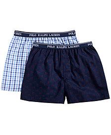 Polo Ralph Lauren Big Boys 2-PK. Printed Cotton Boxers