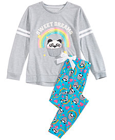 Max & Olivia Big Girls 2-Pc. Sweet Dreams Pajama Set