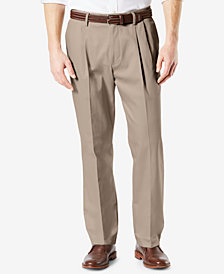 DockersBig & Tall Signature Classic Fit Pleated Lux Cotton Stretch Khaki Pants D3