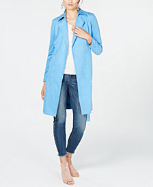 I.N.C. Faux Suede Trench Coat, Created for Macy's