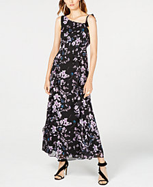 I.N.C. One-Shoulder Floral-Print Maxi Dress, Created for Macy's