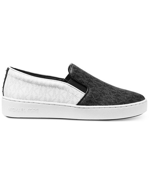 7faf30bbad8d Michael Kors Keaton Slip-On Logo Sneakers   Reviews - Athletic Shoes ...