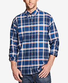 Weatherproof Vintage Men's Plaid Brushed Flannel Shirt