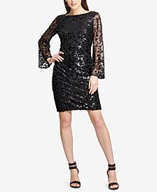 DKNY Sequined Sheath Dress, Created for Macy's