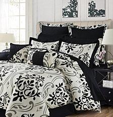 Tribeca Living Prague 12-Pc. Cotton California King Comforter Set