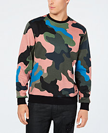 GUESS Men's Alameda Camouflage Swe