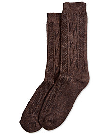 HUE® Cable-Knit Boot Socks