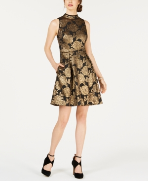 Nanette Lepore NANETTE BY NANETTE LEPORE METALLIC JACQUARD DRESS, CREATED FOR MACY'S