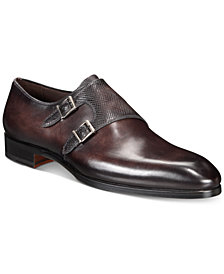 Massimo Emporio Men's Mixed Water Resistant Double-Monk Loafer, Created for Macy's