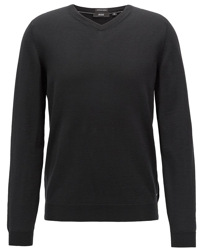 Hugo Boss BOSS Men's V-Neck Virgin Wool Sweater