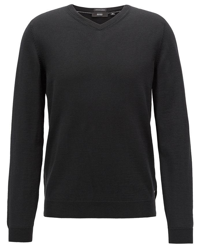 Hugo Boss - Men's V-Neck Virgin Wool Sweater