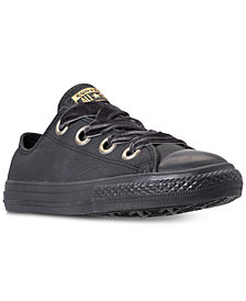 Converse Girls' Chuck Taylor All Star Big Eyelets Leather Ox Casual Sneakers from Finish Line