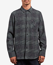 Volcom Men's Buffalo Glitch Plaid Pocket Shirt