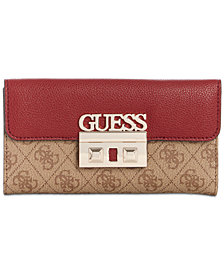 GUESS Logo Luxe Signature Clutch Wallet