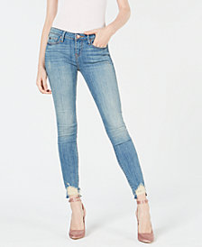 True Religion Halle Distressed Hem Skinny Jeans