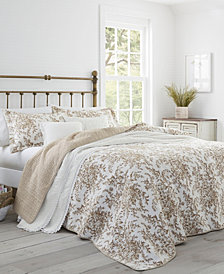 Laura Ashley Full/Queen Bedford Quilt Set