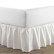 Laura Ashley King Solid Ruffle White Bedskirt