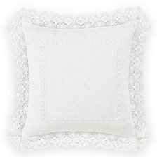 Laura Ashley Annabella White Square Pillow