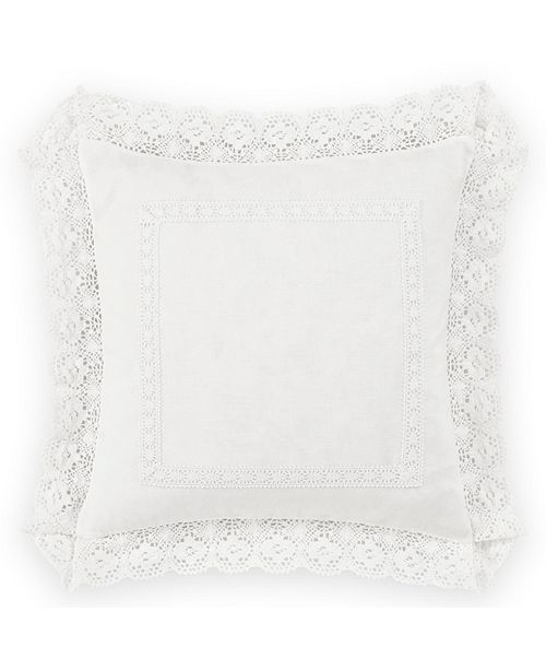 Laura Ashley Annabella White Square Pillow