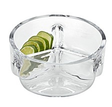 Trista 3 Section Round Serving Dish