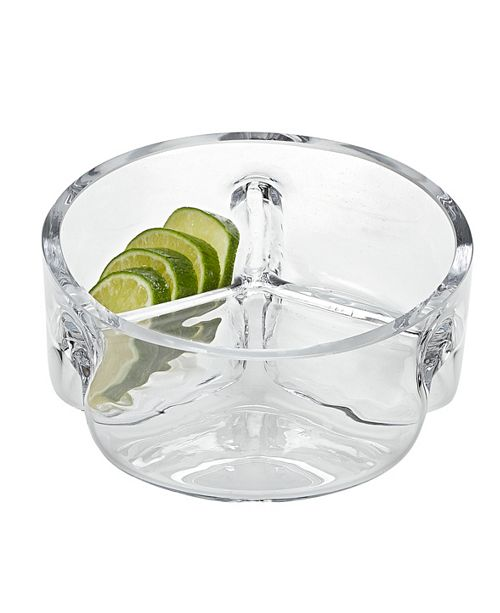 Badash Crystal Trista 3 Section Round Serving Dish