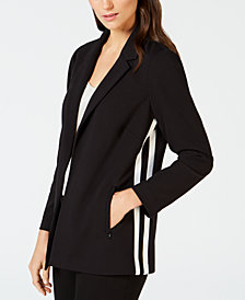 Alfani Racing-Stripe Blazer, Created for Macy's